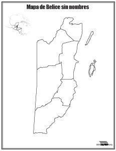Mapa-de-Belice-sin-nombres-para-imprimir