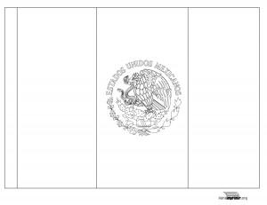 Bandera-de-Mexico-para-colorear-y-para-imprimir