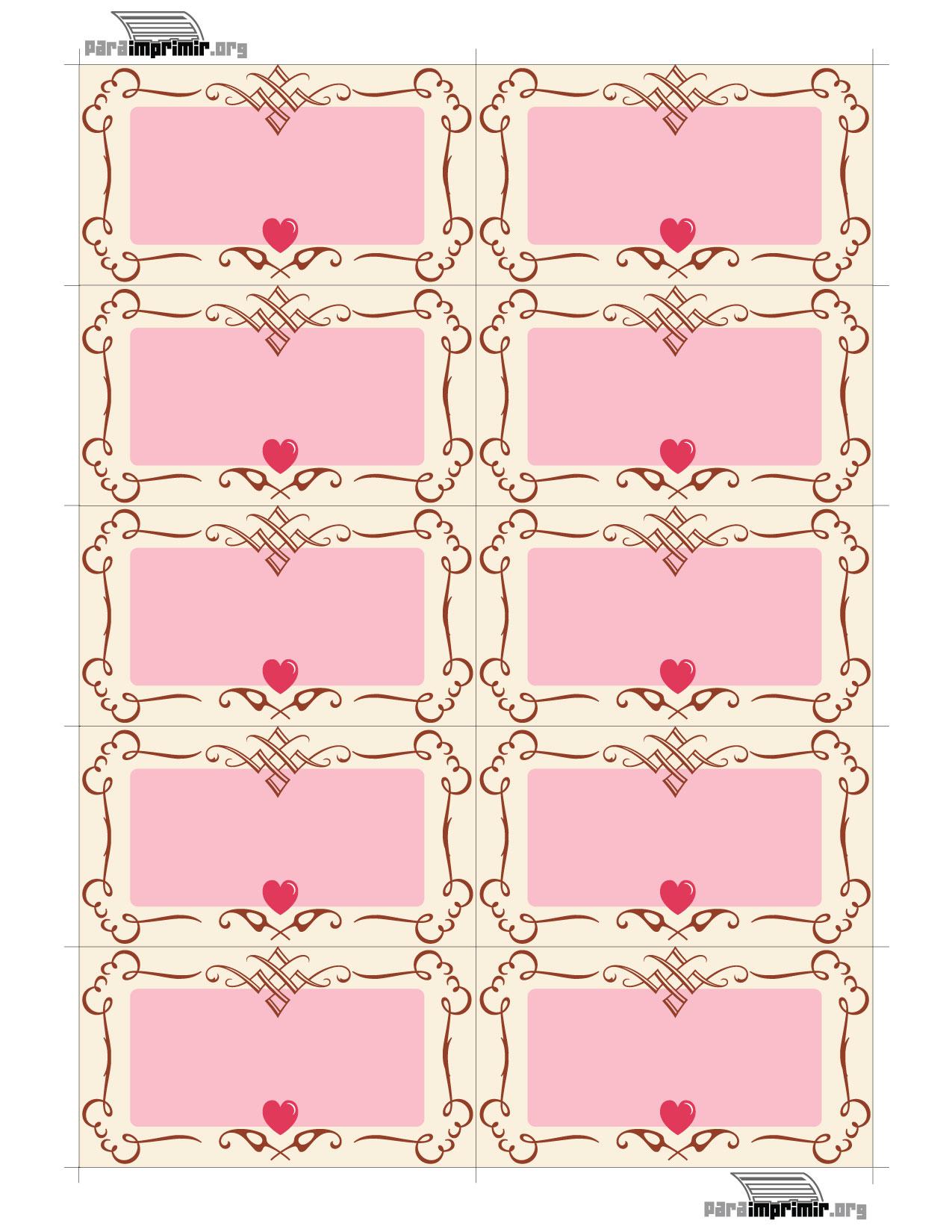 Bordes de tarjetas tipo pastel para imprimir