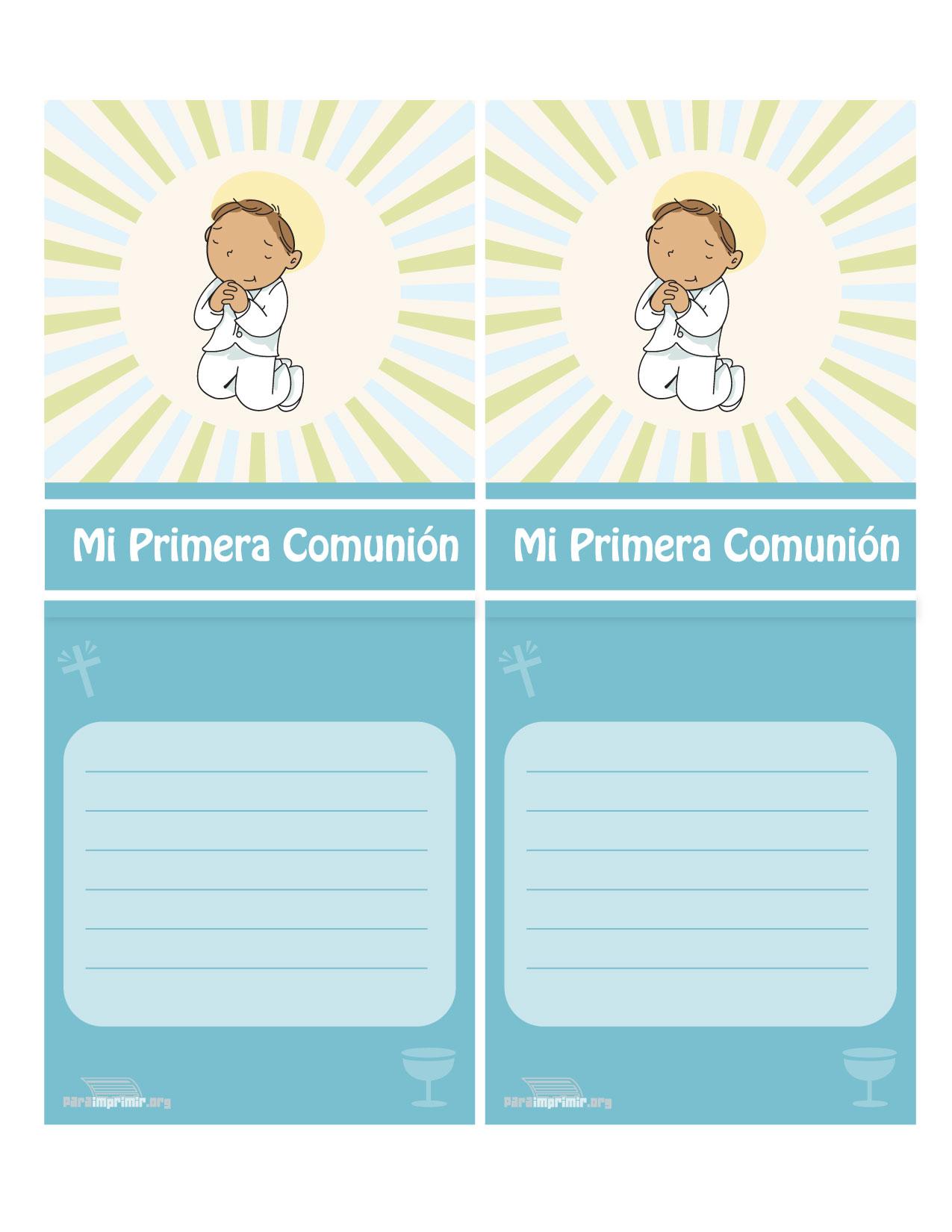 Invitación de 1era comunión para imprimir
