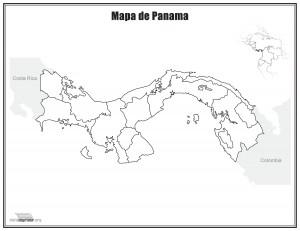 Mapa-de-Panama-sin-nombres-para-imprimir