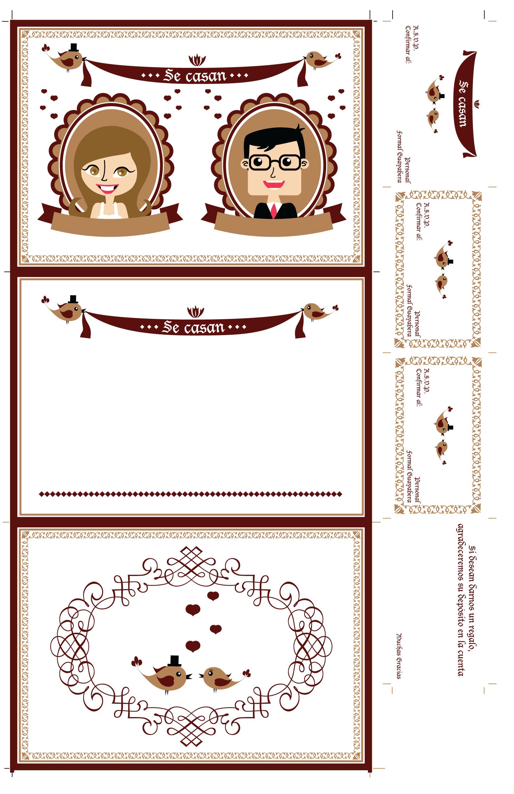 invitaci u00f3n de boda para imprimir