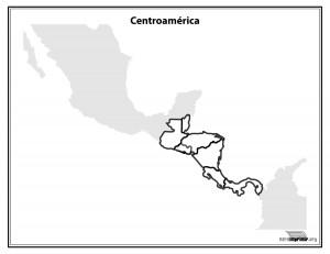 Mapa-de-Centroamerica-sin-nombres-para-imprimir