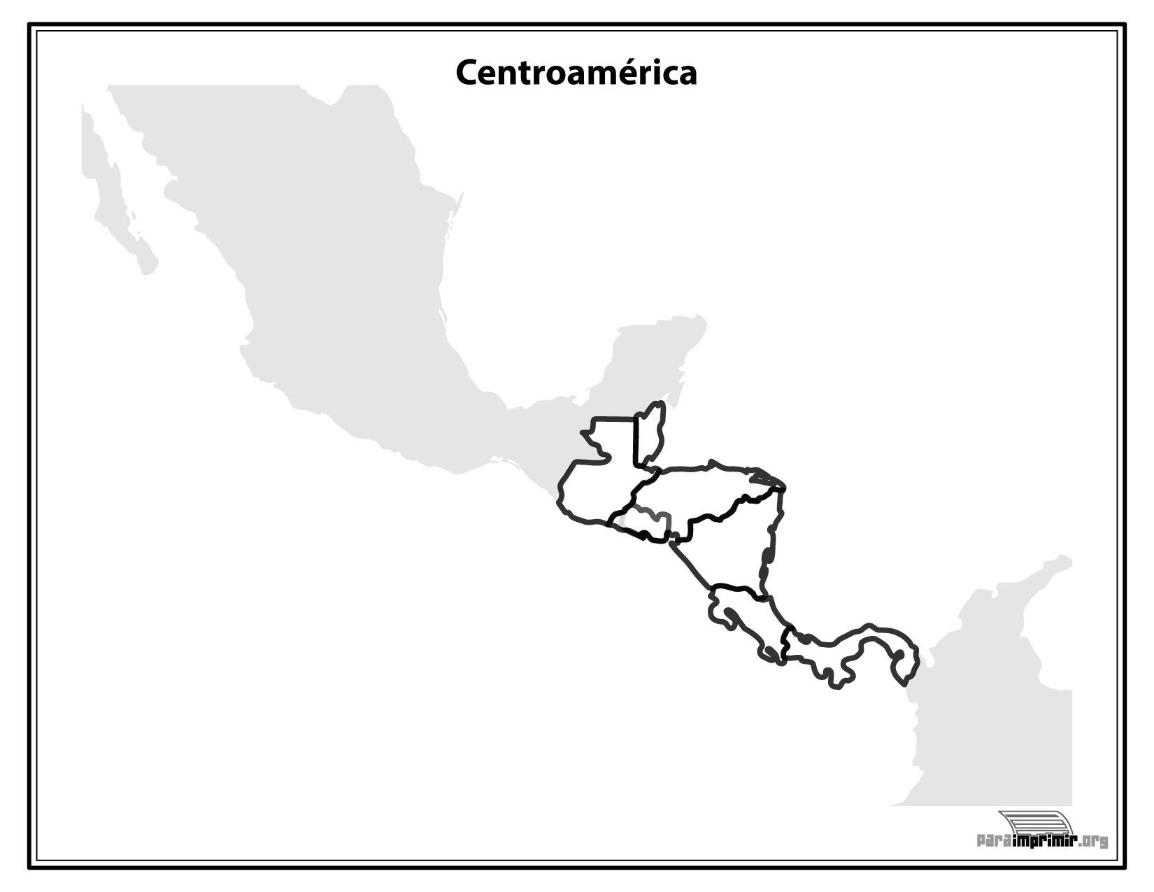 El Mapa De Centro America Para Colorear Mapa De Centroamerica Para