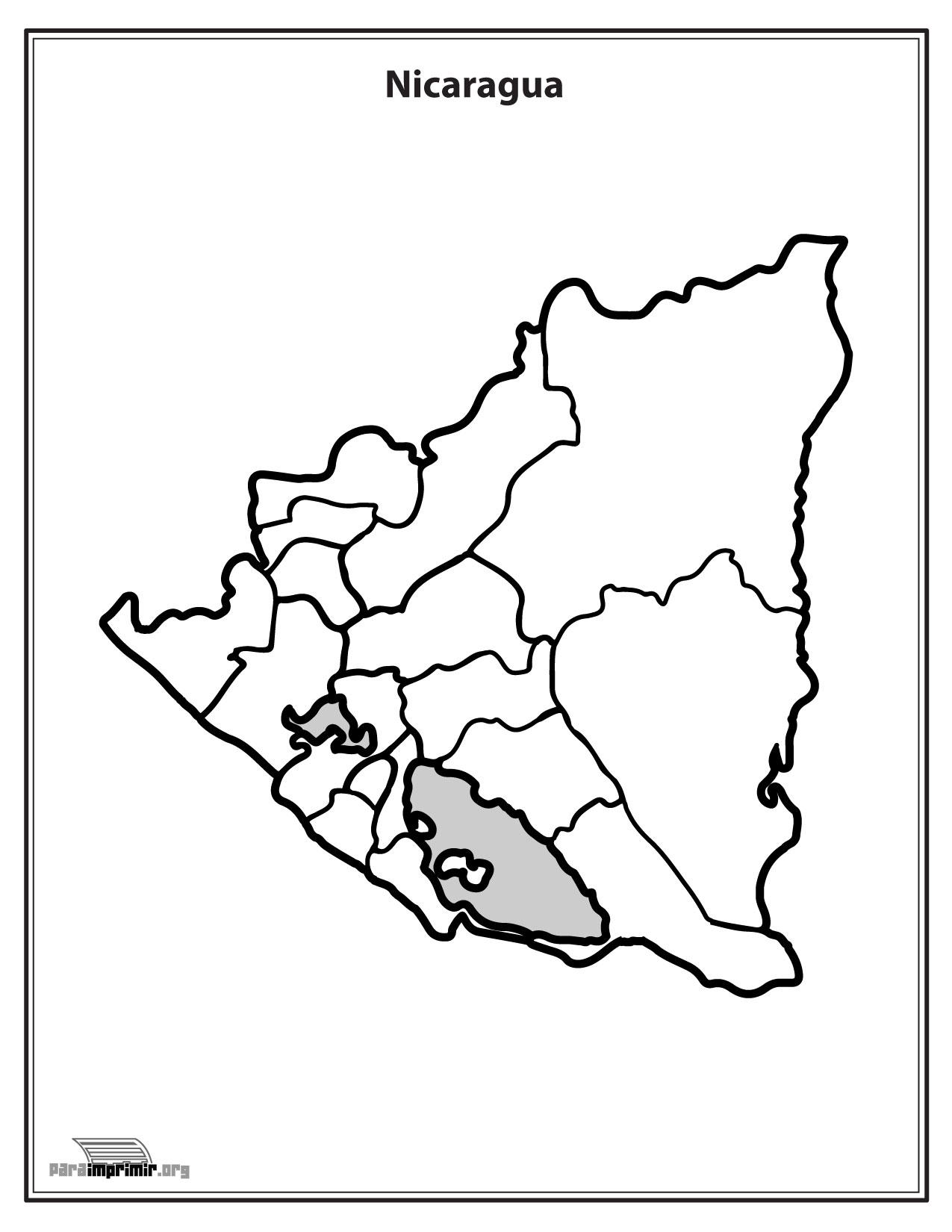 de Nicaragua sin nombres para imprimir