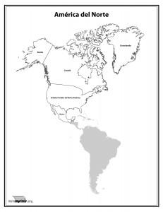 Mapa-del-continente-Norte-Americano-con-nombres-para-imprimir