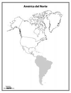 Mapa-del-continente-Norte-Americano-sin-nombres-para-imprimir