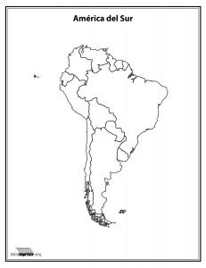 Mapa-del-continente-Sur-Americano-sin-nombres-para-imprimir