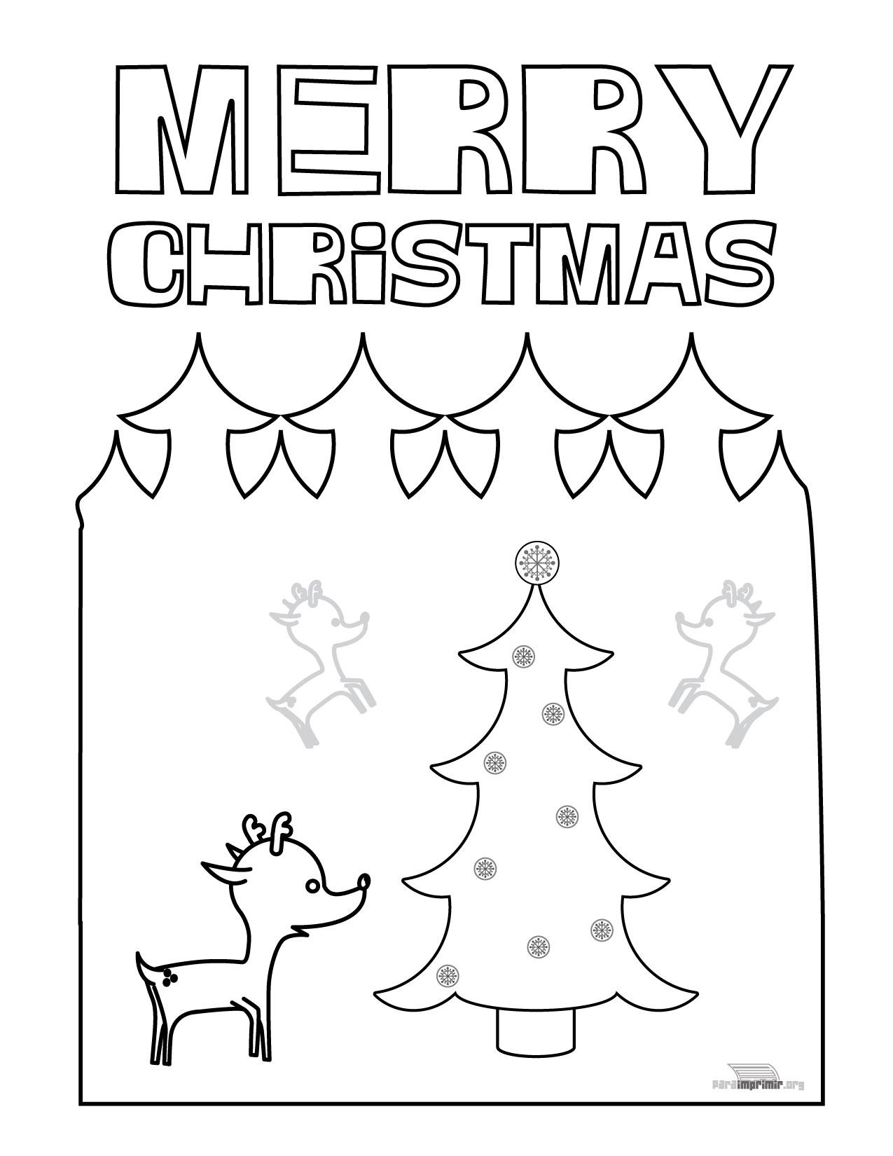 Dibujo De Navidad Para Imprimir En Ingles
