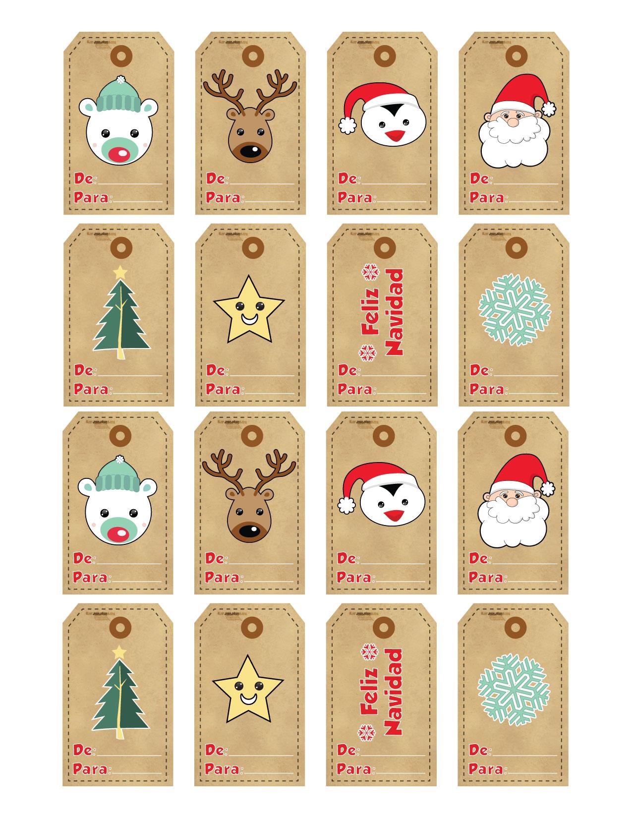 Etiquetas navidad para imprimir - Decorar fotos de navidad gratis ...