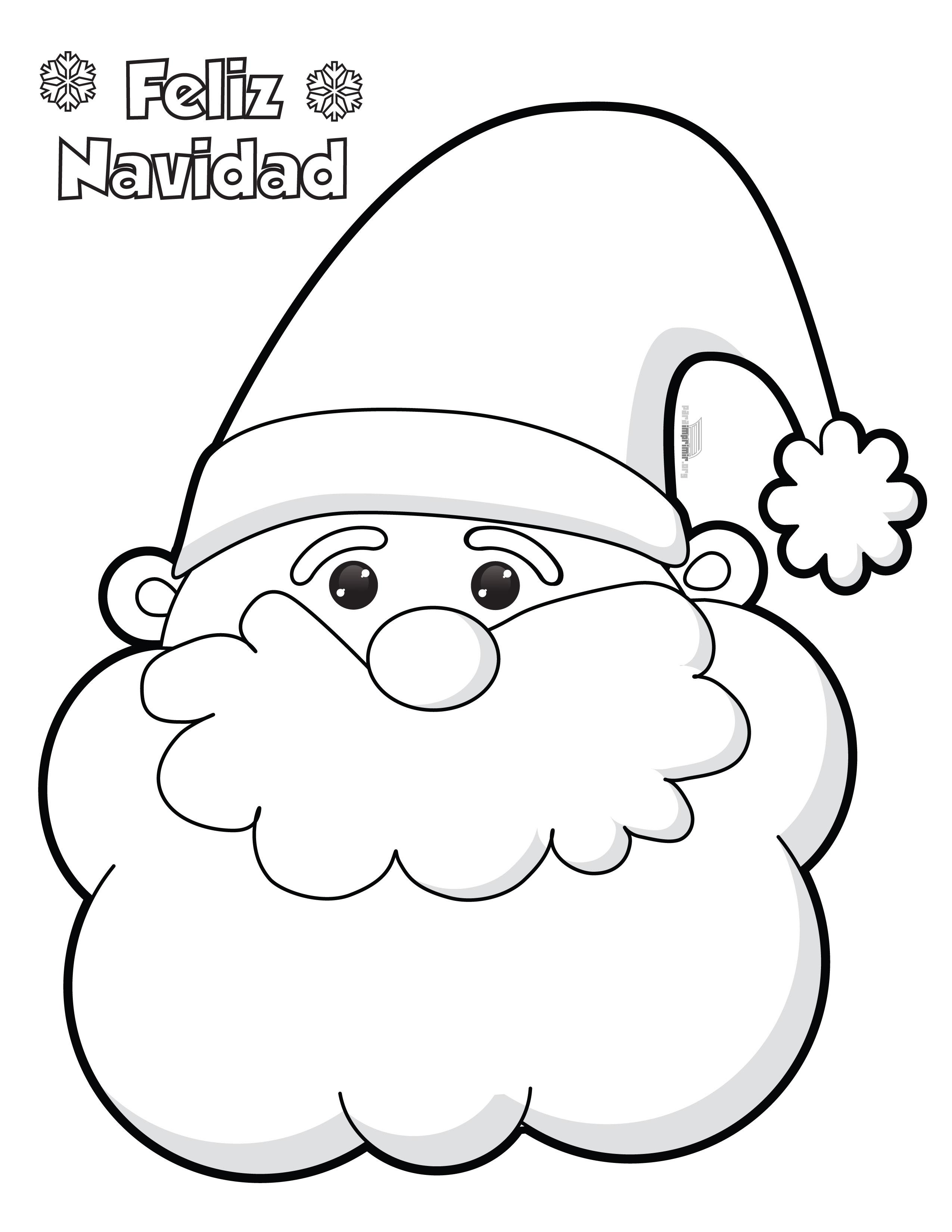 Santa claus para colorear e imprimir for Adornos navidenos para colorear y recortar