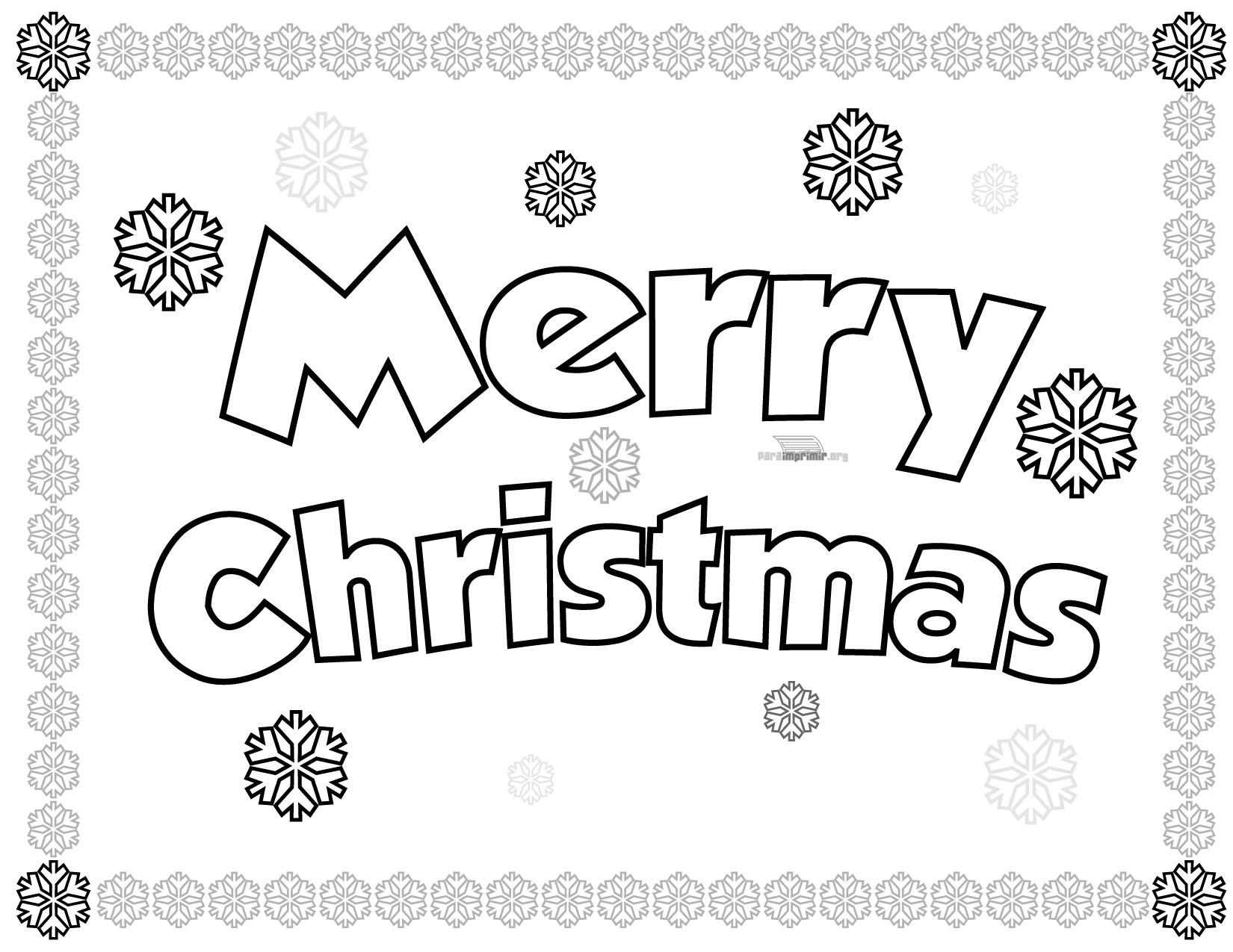 Merry christmas para colorear y para imprimir - Dibujos para imprimir y colorear de navidad ...
