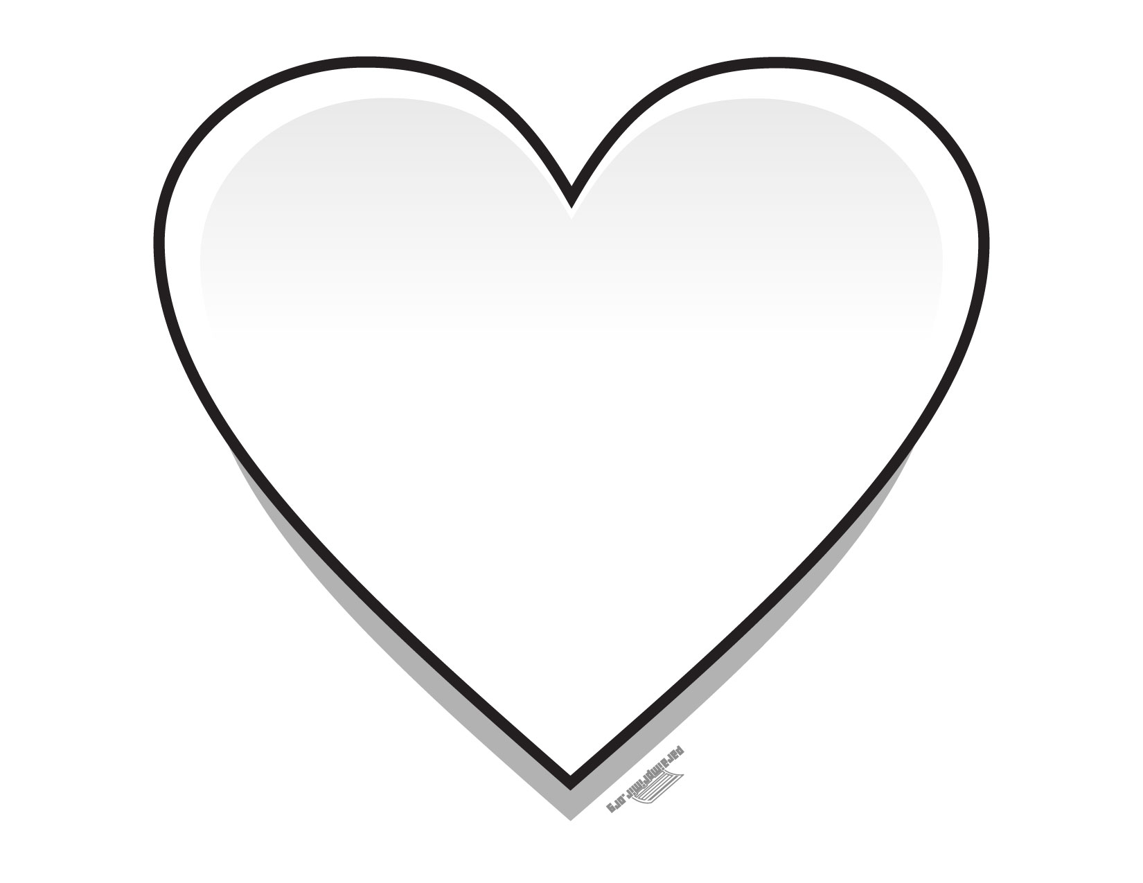 Corazón para colorear y para imprimir