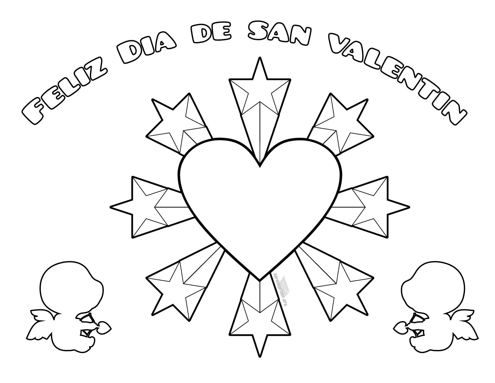 Dibujos De San Valentín: San Valentin Para Colorear Y Para Imprimir