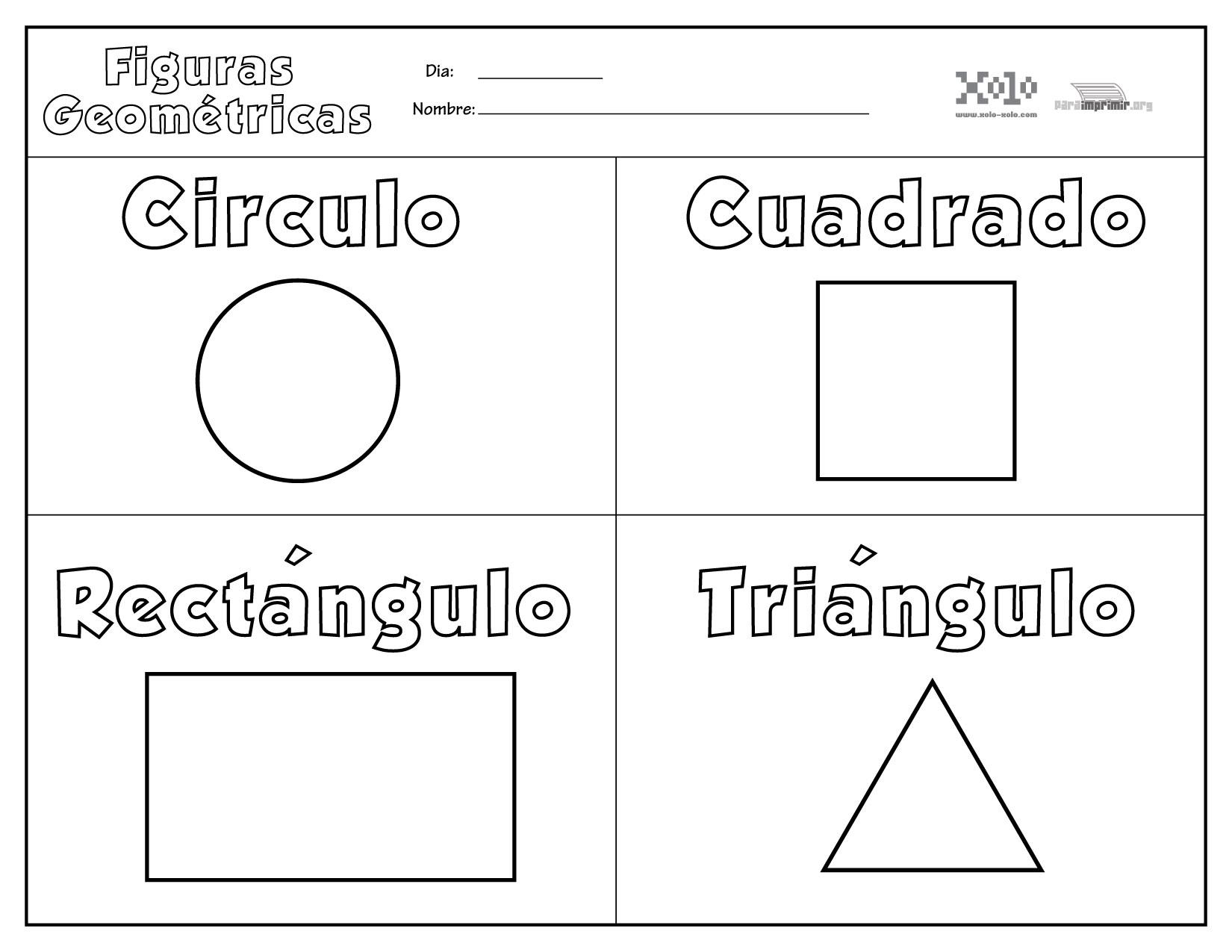 Figuras Geometricas Para Colorear Y Para Imprimir
