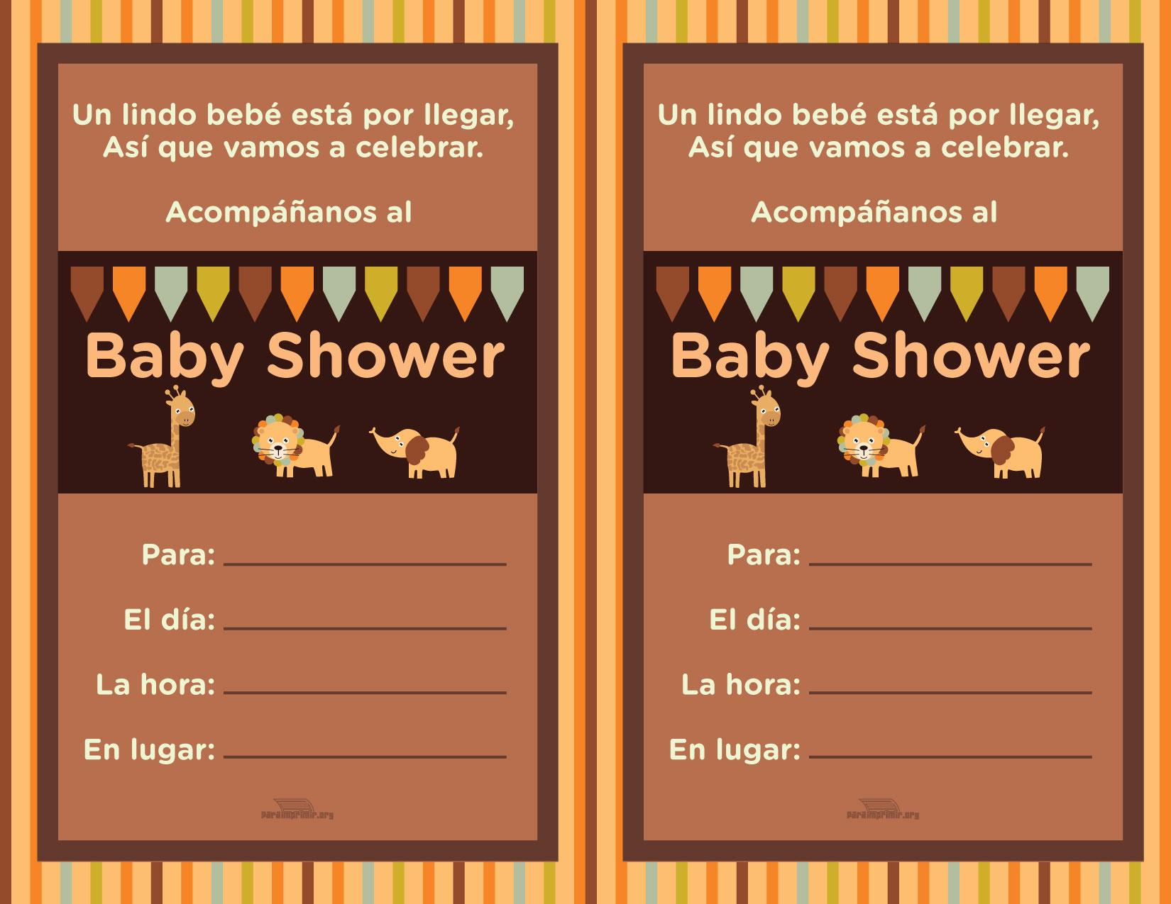 Tarjeta Para Imprimir Baby Shower