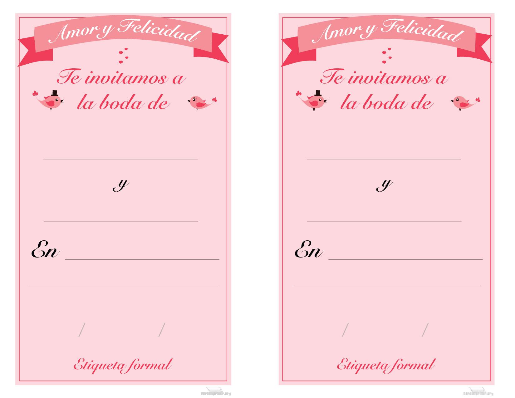 Tarjetas De Matrimonio Para Imprimir
