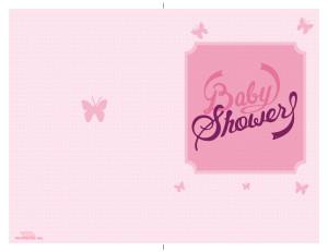 Tarjeta de baby shower para imprimir