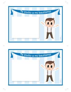 Tarjeta de bautismo para imprimir