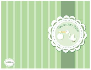 Tarjeta para imprimir bienvenida bebe