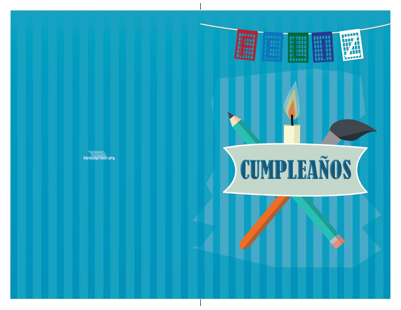 Tarjeta Para Imprimir De Feliz Cumpleaños