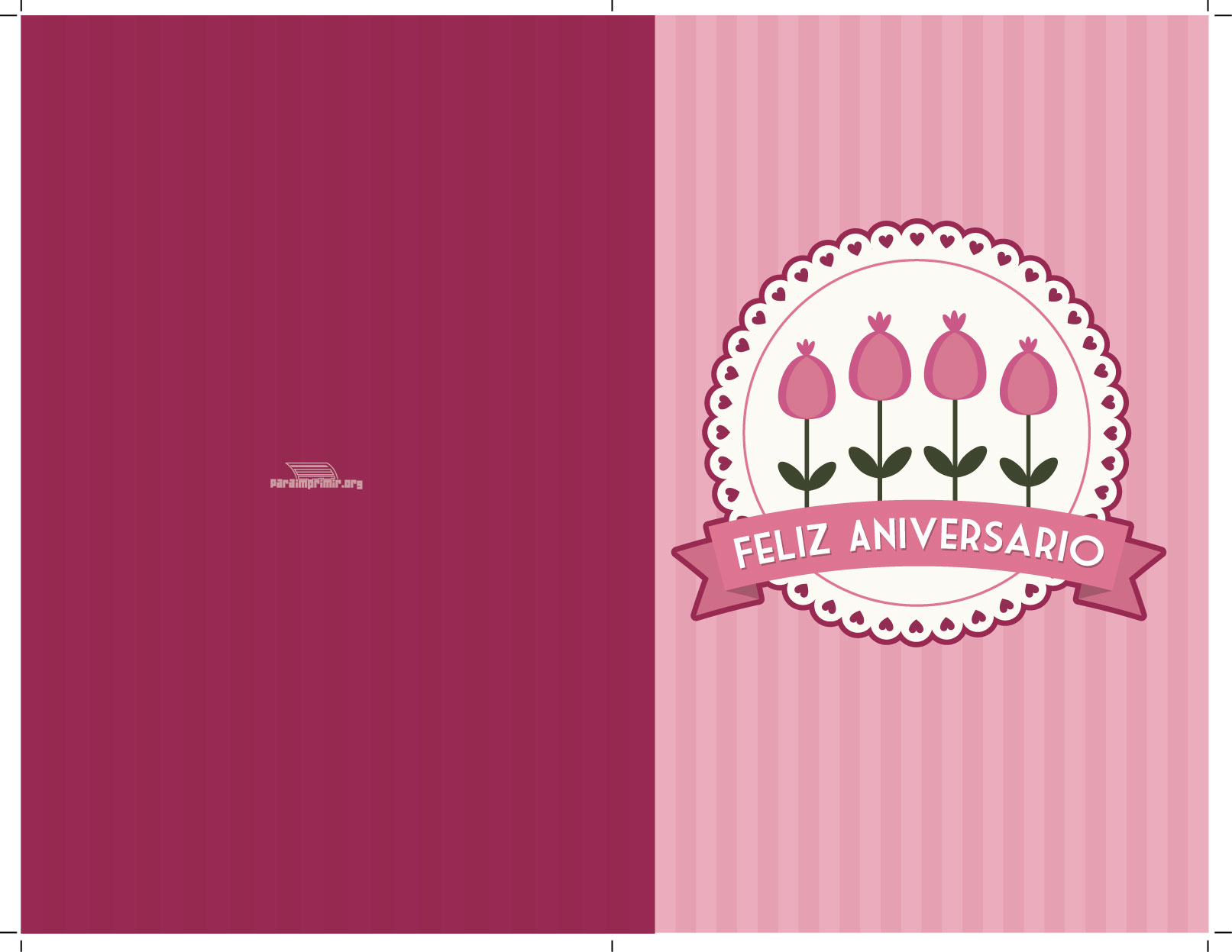 tarjeta de feliz aniversario para imprimir
