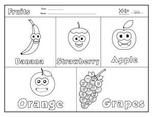 Frutas-en-ingles-para-colorear-y-para-imprimir