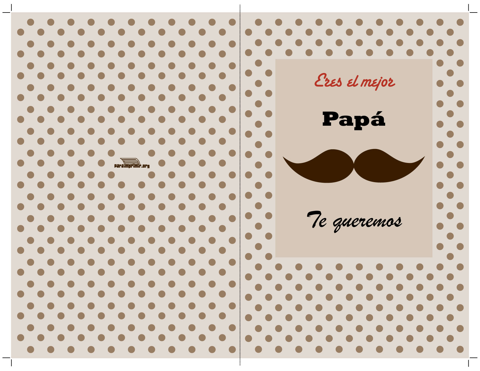 Tarjeta día del padre para imprimir