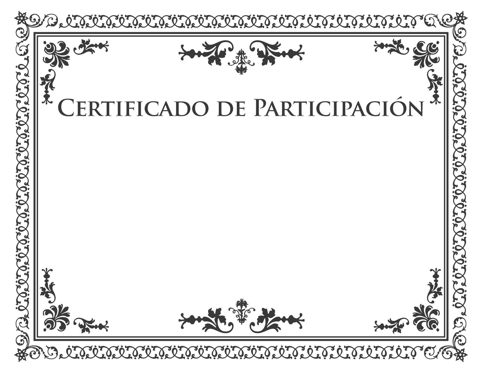 certificado de participaci u00f3n para imprimir