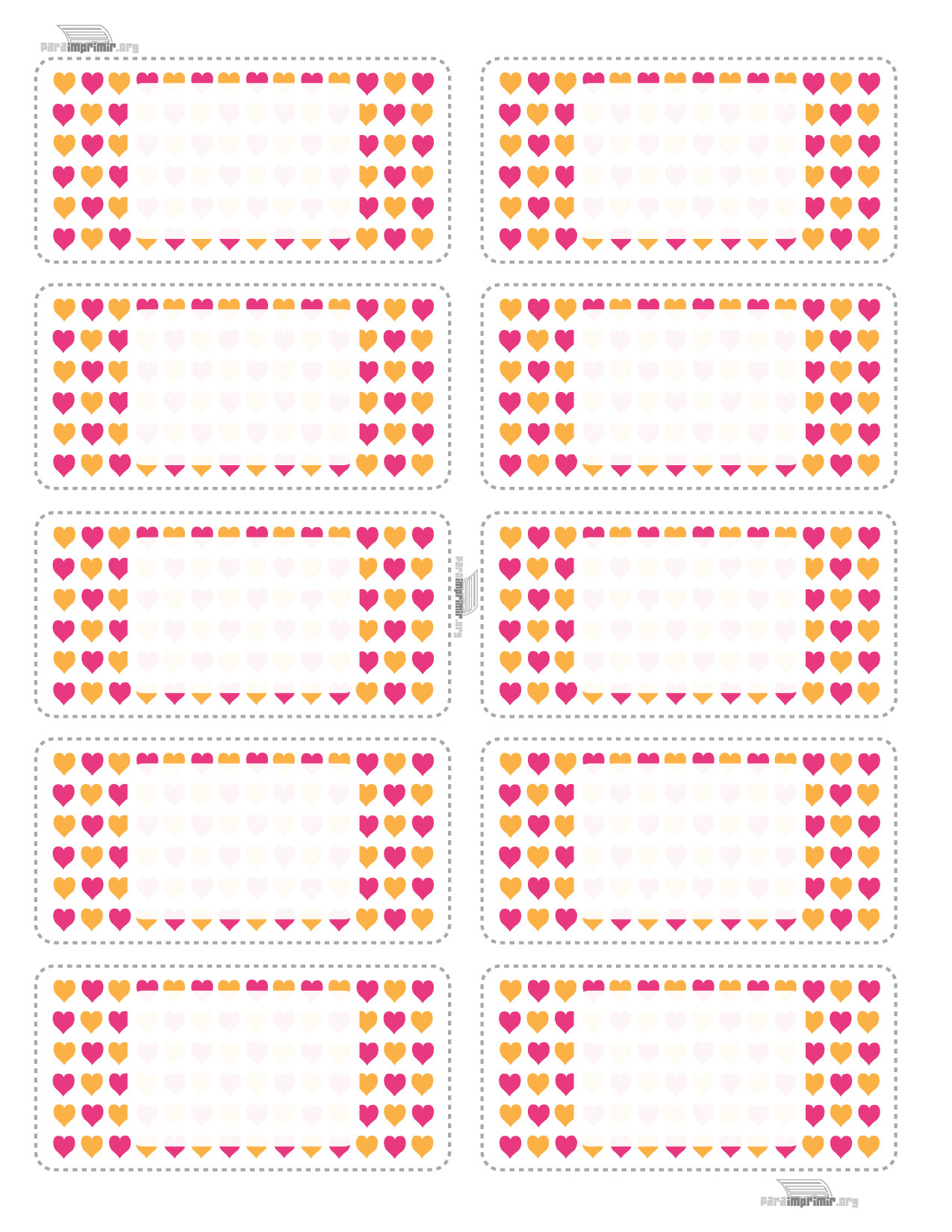 Etiquetas Escolares De Corazón Para Imprimir