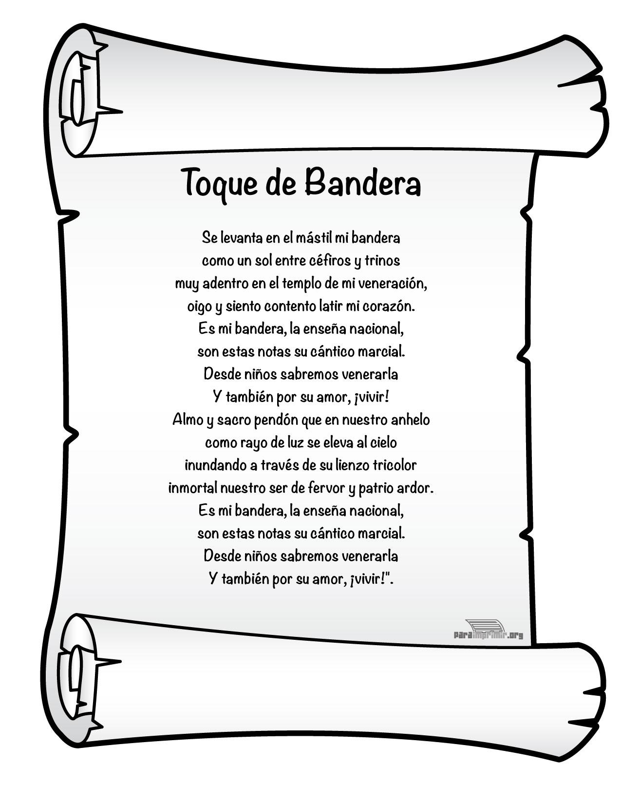 Toque De Bandera Mexico Para Imprimir