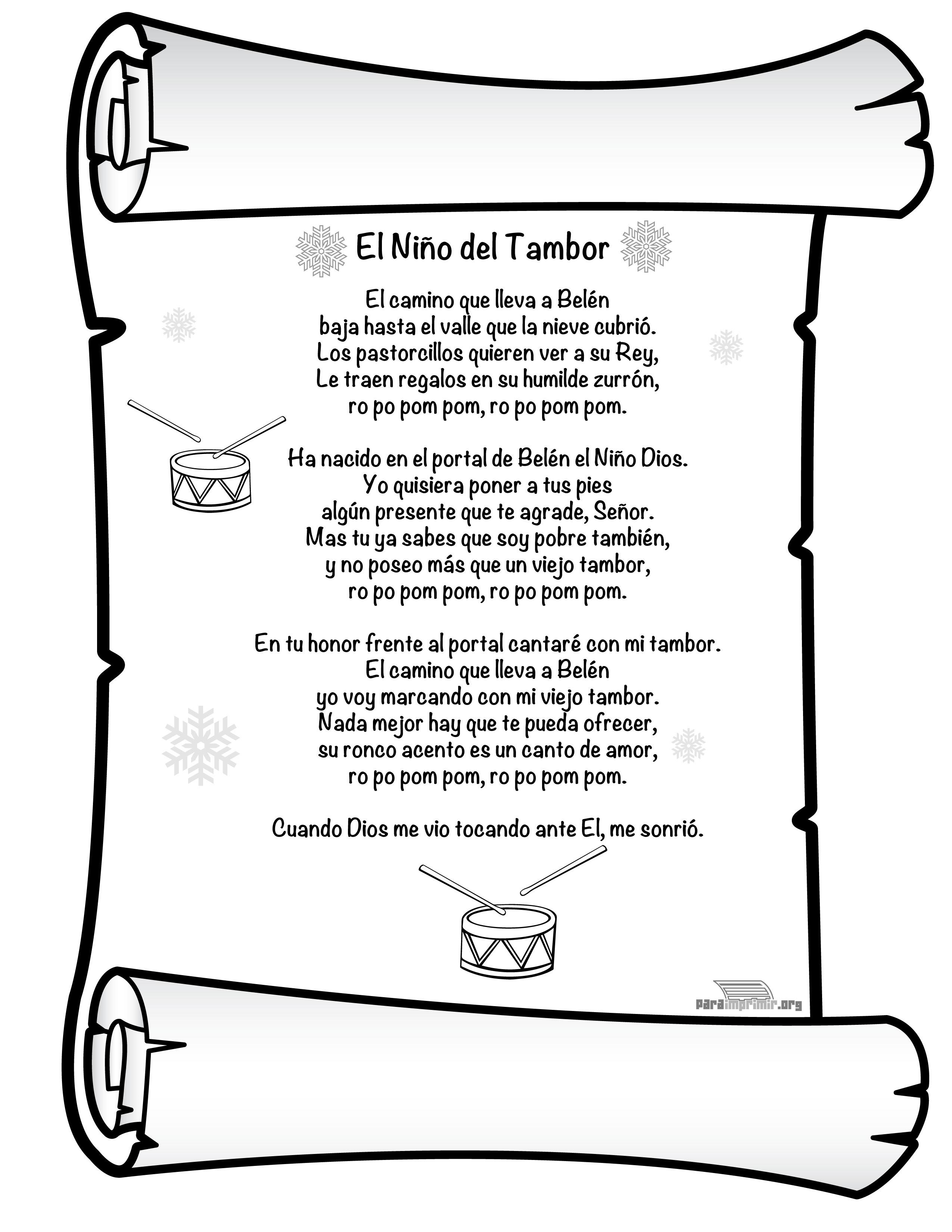 Canciones de villancicos navidenos para imprimir