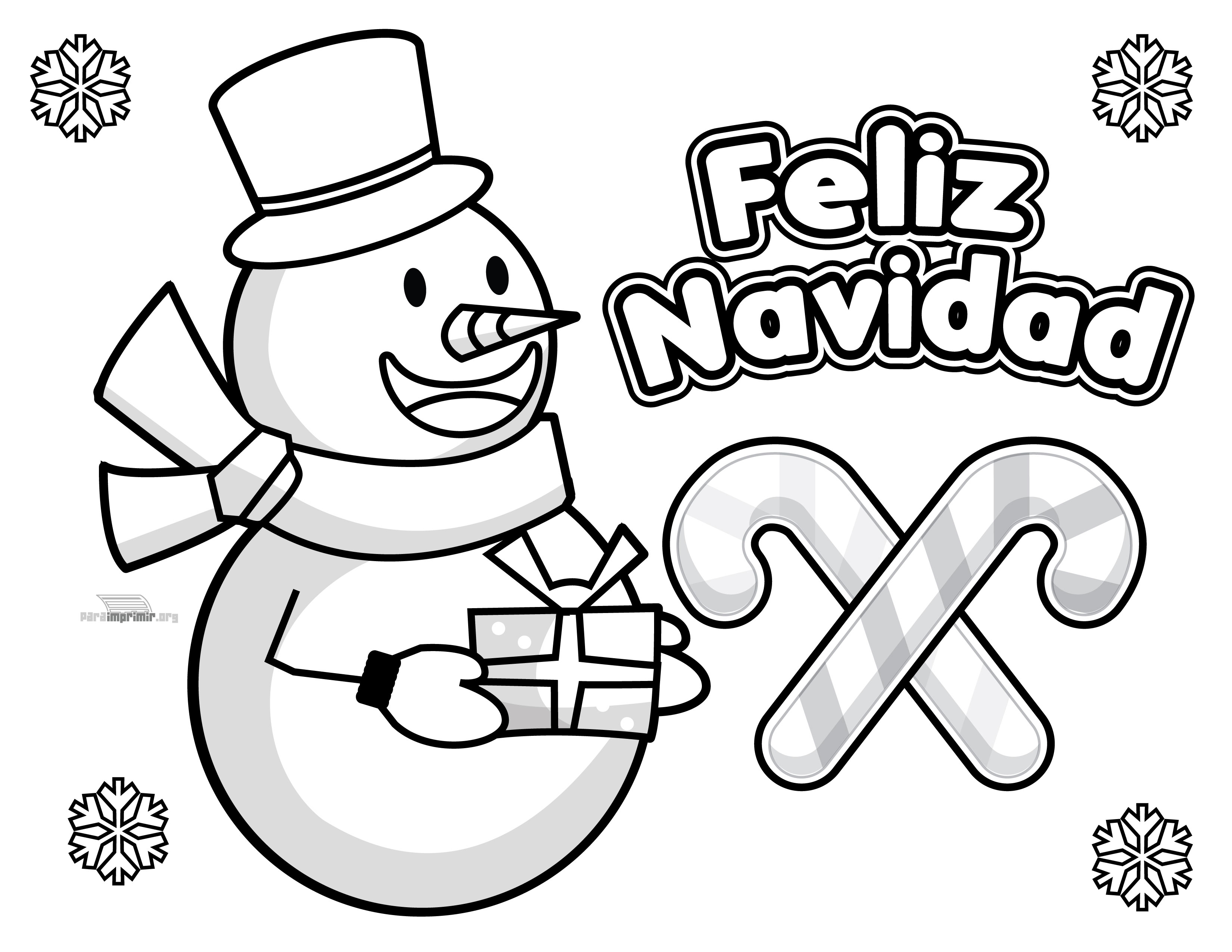 Mono De Nieve Para Colorear Y Para Imprimir