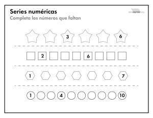 Series numéricas para imprimir