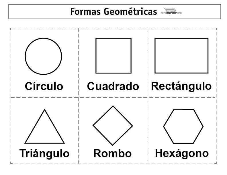 Formas geométricas para imprimir