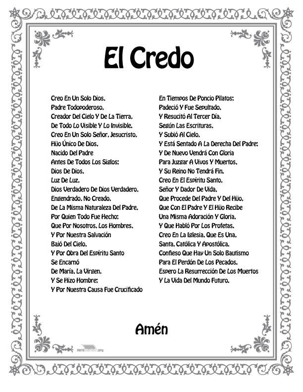 el credo catolico related keywords el credo catolico long
